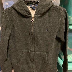 RARE Ralph Lauren Polo CHARCOAL GRAY Fleece Jacket